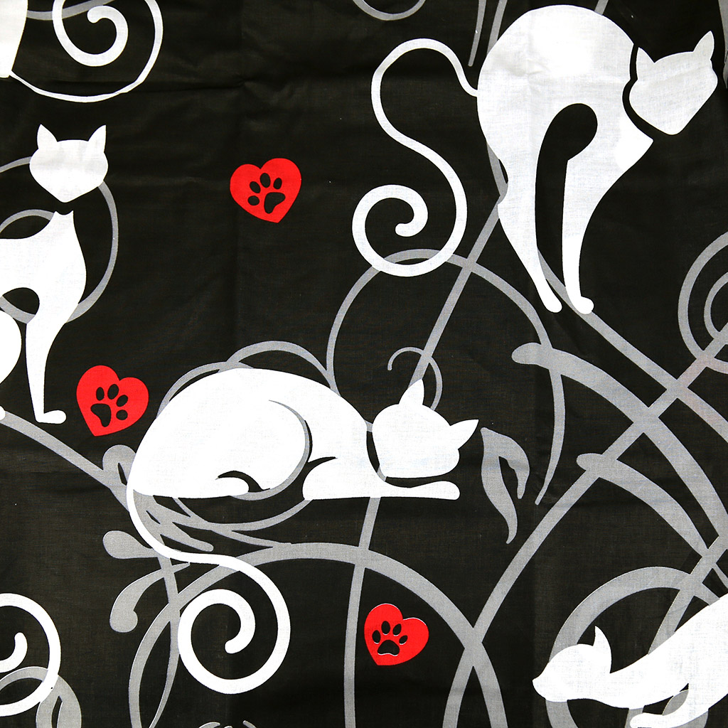 """Н-70/70-2 - """"Кошки"""" Наволочка 70х70см, с клапаном-запахом, перкаль """"Премиум"""" 118г/м2, хлопок 100%, набор 2шт, """"Домашняя мода"""" (Россия)"""