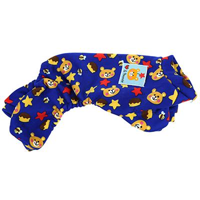 """Одежда для собаки """"Комбинезон"""" на кнопках р-р XXS 18-22см, синий, флис (Китай)"""