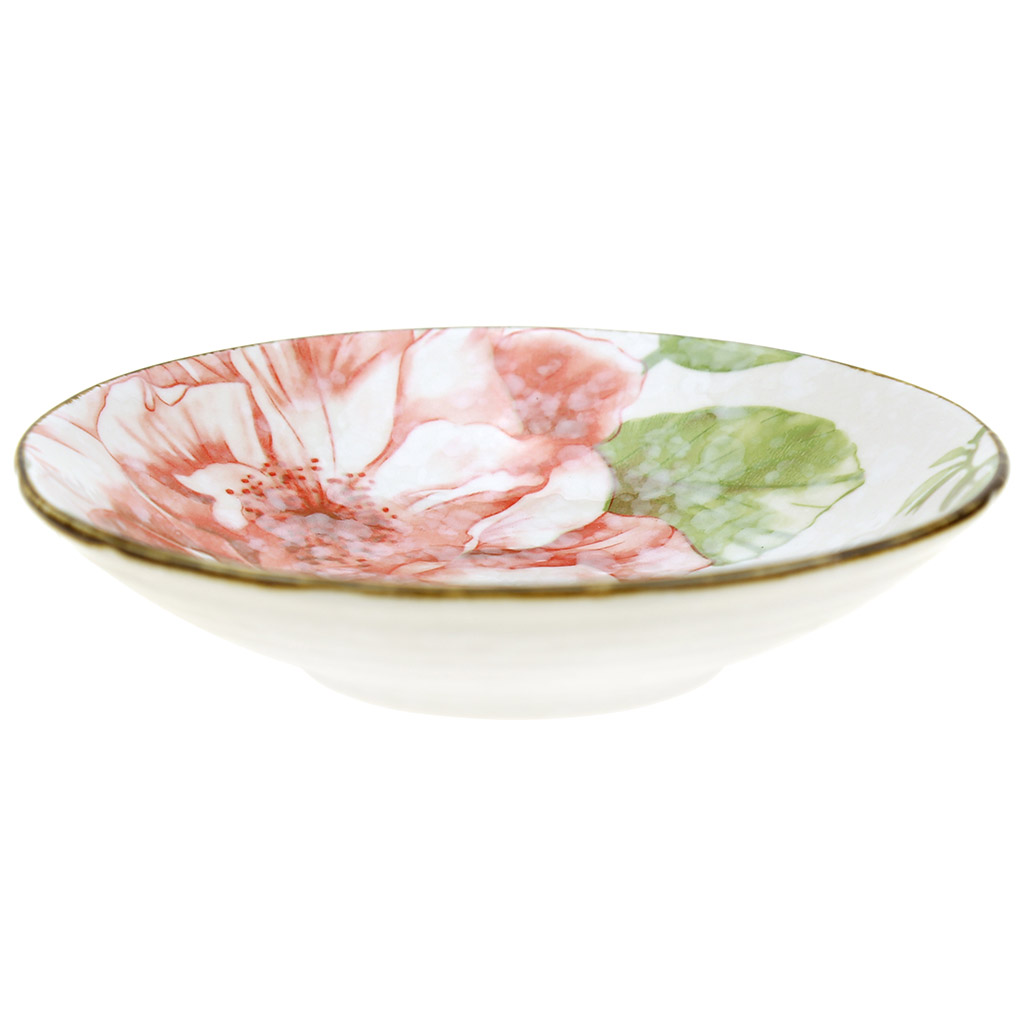 """7"""" - """"Магнолия"""" Тарелка десертная фарфоровая 170мм h38мм, подглазурная деколь (Китай)"""
