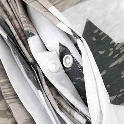 """КПБ-Е-3-50/2 - """"Звездочки"""" Постельное белье, комплект """"Евростандарт"""", 3 предмета: пододеяльник на кнопках 200х220см, 2 наволочки 50х70см, поплин 110г/м2, хлопок 100%, """"Домашняя мода"""" (Россия)"""