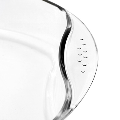 Форма стеклянная для запекания 3,3л овальная 39х27см h6,5см, термостекло, в цветной коробке (Китай)