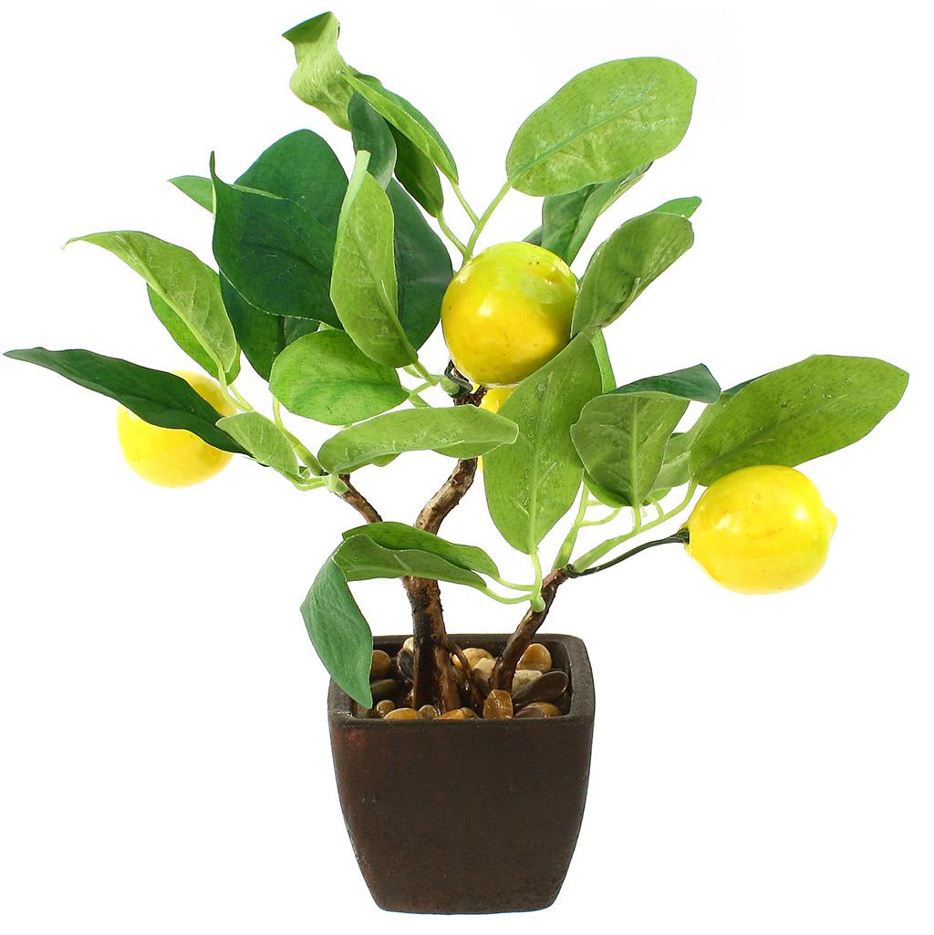 """н/с - Декоративное дерево """"Лимон"""" h26см в горшке 7,5х7,5см h6,5см (Китай) незначительный дефект лимонов. Товар возврату и обмену не подлежит."""