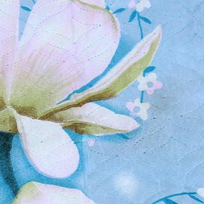 """Наволочка декоративная 50х70см """"Цветы на голубом"""", полиэстер 50гр, наполнитель синтепон 70гр, на молнии, термостежка, набор 2шт (Россия)"""