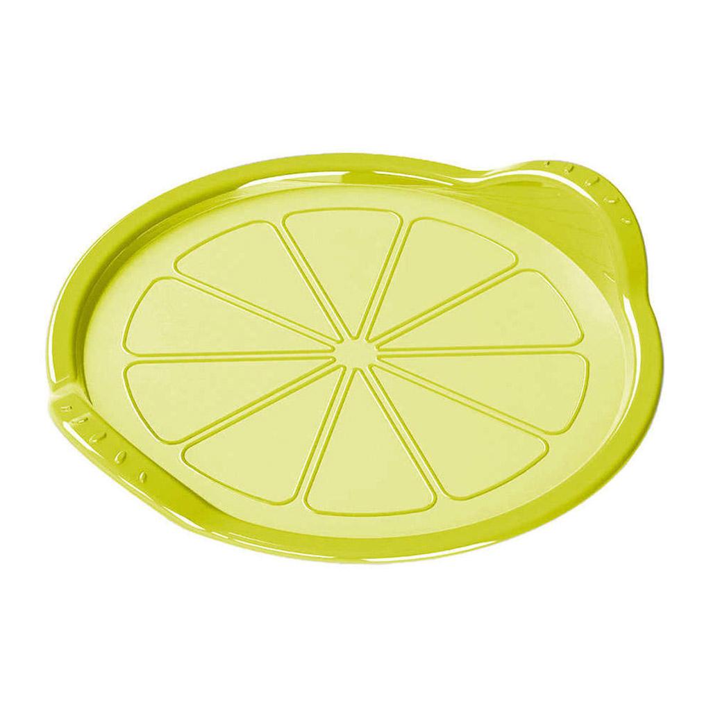 431295222 - Поднос-подставка пластмассовый д26см, h4см, универсальный, цвета микс 5: зеленый, бежевый, Phibo (Россия)