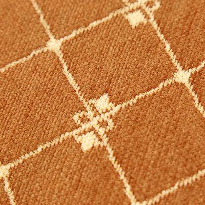 """- Коврик """"Дворцовый"""" 37х60см, антискользящее основание, ткань, коричневый (Китай)"""
