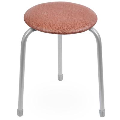 """ТК01/К - Табурет на 3-х ножках """"Ника классика 1"""", металлический каркас h45см, сиденье винилскожа д30см, h2см, основа табурета - фанера, наконечники на ножках, коричневый (Россия)"""